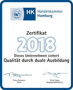 Consa Internationale Spedition bildet aus mit Zertifikat der Handelskammer